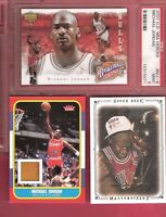 MICHAEL JORDAN FLEER ROOKIE GAME USED FLOOR + PSA MINT 9 HEROES + MASTERPIECES 1