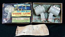 Rare 1950s Hassenfeld Bros US NAV Y Blinker Code Lite Set Light toy