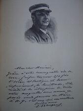 Gravure Portrait du Capitaine FRANGEUL 1894