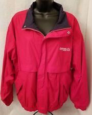 Devon & Jones Mens Red/Blue/White Carter Lumber Buckeye Lined Jacket Coat Size L