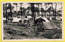 cpsm St JEAN de MONTS en 1951 (Vendée) CAMPING en FORÊT Automobiles Campeurs
