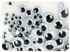 100x 6-12mm Plastic Wiggle Googly Eyes Self-Adhesive for DIY Dolls Kids Toys Pop