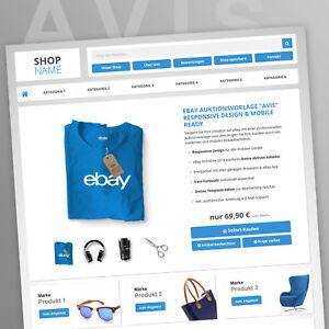 EBAYVORLAGE Auktionsvorlage Avis RESPONSIVE Mobil Design HTML Template