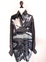 ❤️ DIESEL Black Gold ❤️ Weite Bluse Tunika 100% Seide Krempelärmel TOP❤️ Gr M ❤️