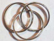 Toy Magic Rings 3 Rings ¾� Inside Diameter Metal Silver Color