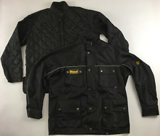 Belstaff tartan lined 3-in-1 mens black shell jacket +quilted liner mens XXL 2XL