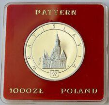 Poland, 1000 Zlotych 1987, PROBA Pattern Coin, Trial, Wratislavia, Silver coin