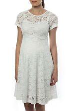 Pietro Brunelli Rodano Maternity Dress White Lace (Wedding?) Short Large NEW