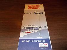 1968/69 Sunoco Baltimore & Vicinity/Annapolis Vintage Road Map
