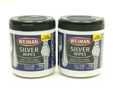 TWO Weiman Silver Polish Cleaner & Tarnish Remover 20 ct EACH
