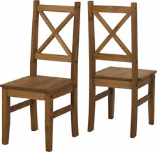 Seconique Salvador Distressed Waxed Pine Dining Set With 4 Chairs 2 Chairs Only