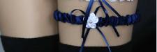 1 jarretière satin mariage  coloris bleu marine : LIVRABLE DE SUITE