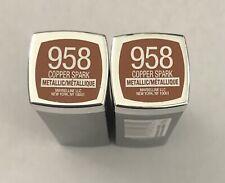 (2) Maybelline Colorsensational Metallic Lipstick, 958 Copper Spark