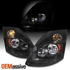 For 04-17 Volvo VNL straight/tractor truck Black Housing LED Headlights Headlamp