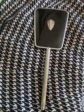 Gorgeous Vintage Vanity Hand Mirror Black Silver Art Deco Design