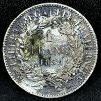 France 1 Franc 1850-A Second republic - Nice Condition  - KM 759.1 - Rare Coin#2