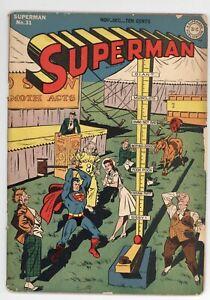 SUPERMAN #31 - VG - 1944 / LEX LUTHOR / BILL FINGER