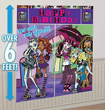 Monster High Wall Decoration Kit Happy Birthday Party Favor Supplie Scene Setter