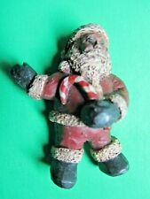Vintage African American Candy Cane Santa Resin Christmas Pin S Bishop '92 (6)
