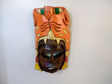 Wood Mask Tribal Mask Wall Hanging Decoration Hand Painted and Crafted