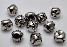 PLATINUM SILVER JINGLE BELLS 25mm (1 inch) Bulk ~ Shiny Metal for Crafts