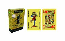 Waddingtons of London Number 1 Gold Playing Plastic Card - Gold Deck