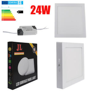 24W Square LED Surface Mount Panel Ceiling Light Downlight Office Lamp Daylight