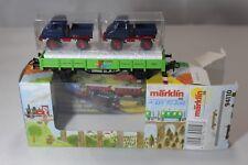 Märklin H0 94110 - Nierbordwagen & 2x Unimog - 1.FC Märklin 2001 - OVP - #046