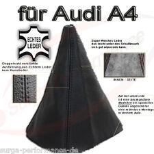 Audi A4 B5 Echt Leder Schaltsack Schaltmanschette Schaltknauf Echtes LEDER NEU