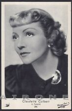 CLAUDETTE COLBERT 10 ATTRICE ACTRESS ACTRICE CINEMA Cartolina Ediz. ELAH n° 26