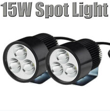 15w 12v 3 Led Luz Reflector van Car Motocicleta Bicicletas Bicicleta handlight