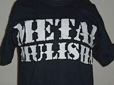 METAL MULISHA MENS BLACK GRAPHIC T-SHIRT W/WHITE LOGE size Medium
