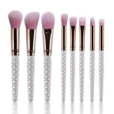 8pc Pink And Pearl MERMAID Make Up Brushes
