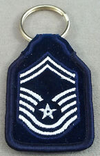 US Air Force Senior Master Sergeant E-8 Rank Embroidered Keychain