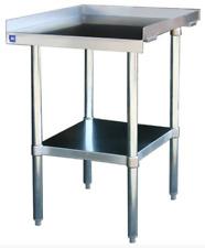 New 24x30 Equipment Stand Stainless Steel Top 16 Ga Galvanized Bottom Nsf 6962