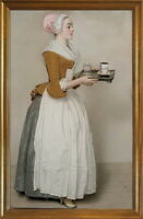 Classic Framed Jean Etienne Liotard The Chocolate Girl Giclee Canvas Print