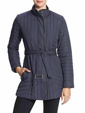 [7975-1] Banana Republic Women's Quilted Coat Evening Blue Small $149