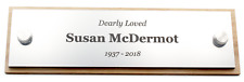 Personalised Solid Walnut And Silver Memorial Plaque Grave Ornament