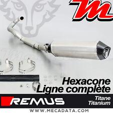Ligne complète échappement REMUS Titane Hexacone avec Cat. KTM 690 Enduro R 12 >