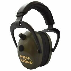 Pro Ears Gold II 26 NRR 26 - Electronic Hearing Protector Ear Muffs, Green
