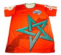 Orlando Magic Basketball Men's Large T-shirt Short Sleeve Orange (Dwl)