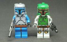 Custom Lego Star Wars Boba & Jango Fett Classic Minifigure Set