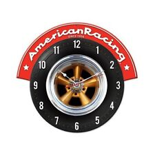 Original American Racing Torq thrust Wheels reloj reloj de pared taller blechuhr Clock