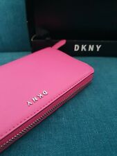 DKNY Pink Zip Around Large Purse Wallet - Authentic Great Gift