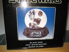 STAR WARS  SLAVE ONE Jedi Starfighter Snow Globe Attack of the Clones