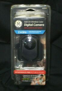 NEW GE Add On Accessory Wireless Color Digital Camera 2.4GHz Home Monitoring