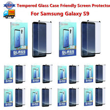 Lot For Samsung Galaxy S9 Tempered Glass Case Friendly Screen Protector