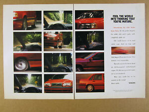 1994 Volvo 850 Turbo red sedan color photos vintage print Ad