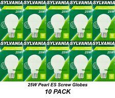 10 x 25W Light Globes Bulbs Lamps E27 Screw Incandescent Warm White Pearl A60