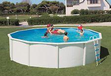 Pool Stahlwand Schwimmbecken breiter Handlauf  5,50 X 1,35m + Skimmer